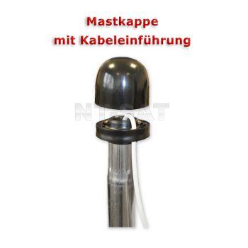 Sat Mastkappe für Antennenmast Ø 42 - 50 mm mit Kabeldurchführung