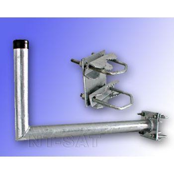 Wandhalter 450 mm Stahl mit Zahnschelle