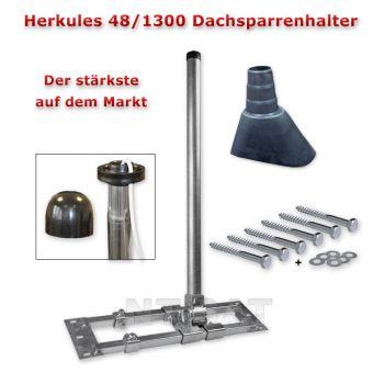 Dachsparrenhalter Herkules 48/1300 Mastkappe, Mastmanschette, Befestigungsset