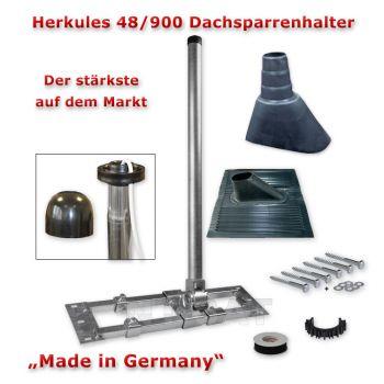 Herkules Auf/Dach-Sparrenhalter Mast Sat-DVBT Halter inkl. Montage-Set