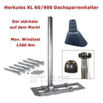 Dachsparrenhalter Herkules S 60/900 XL Mastkappe, Mastmanschette, Befestigungsset