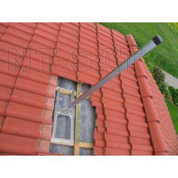 Dachsparrenhalter 1m Mast Profi Aufdach Sparrenhalter High Quality Sat Halter Dach Halter