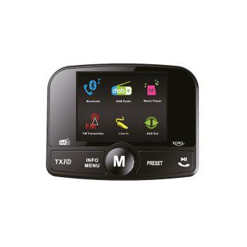DAB-Empfänger als Autoradio Adapter mit Bluetooth Freisprecheinrichtung und FM-Transmitter