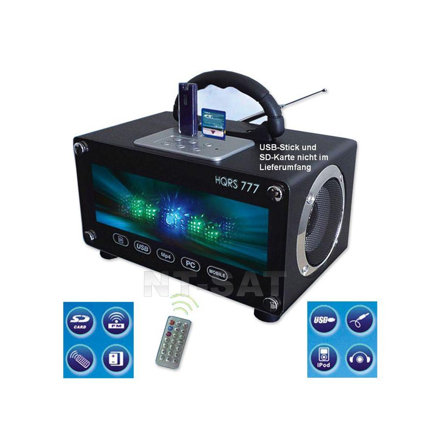 radio tragbare usb sd karten boombox led mobile lautsprecher mit akku 220v. Black Bedroom Furniture Sets. Home Design Ideas