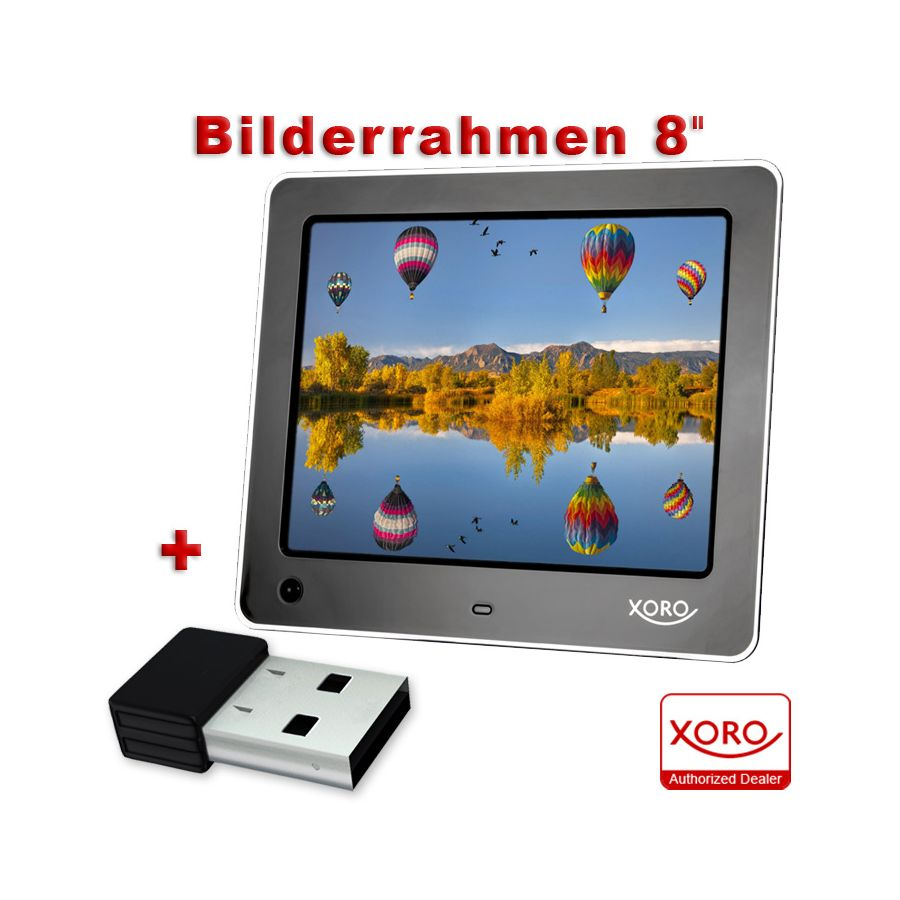 digitaler bilderrahmen xoro dpf 10 zoll bewegungssensor led fotorahmen 25 4 cm usb mp3 avi. Black Bedroom Furniture Sets. Home Design Ideas