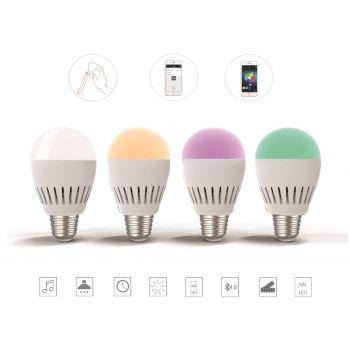 LED Lampe mit integrierten Bluetooth Lautsprecher 5 Watt E27 LED Lampe 600 Lumen