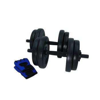 Hantelset Kurzhantel Handschuhe Beton Hantelscheiben 20kg / Sporthandschuhe