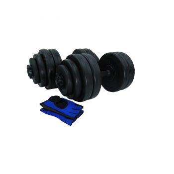 Hantelset Kurzhantel Handschuhe Beton Hantelscheiben 30kg / Sporthandschuhe