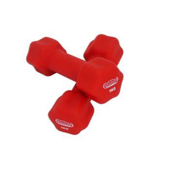 Kurzhanteln Vinyl Hantelset Gewichte Fitness Aerobic 2er Set, 2x 1kg