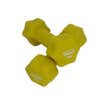 Kurzhanteln Vinyl Hantelset Gewichte Fitness Aerobic 2er Set, 2x 2kg