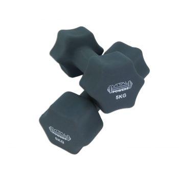 Kurzhanteln Vinyl Hantelset Gewichte Fitness Aerobic 2er Set, 2x 5kg