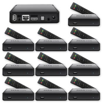 10 x MAG 250 IPTV Box Multimedia Player Internet TV