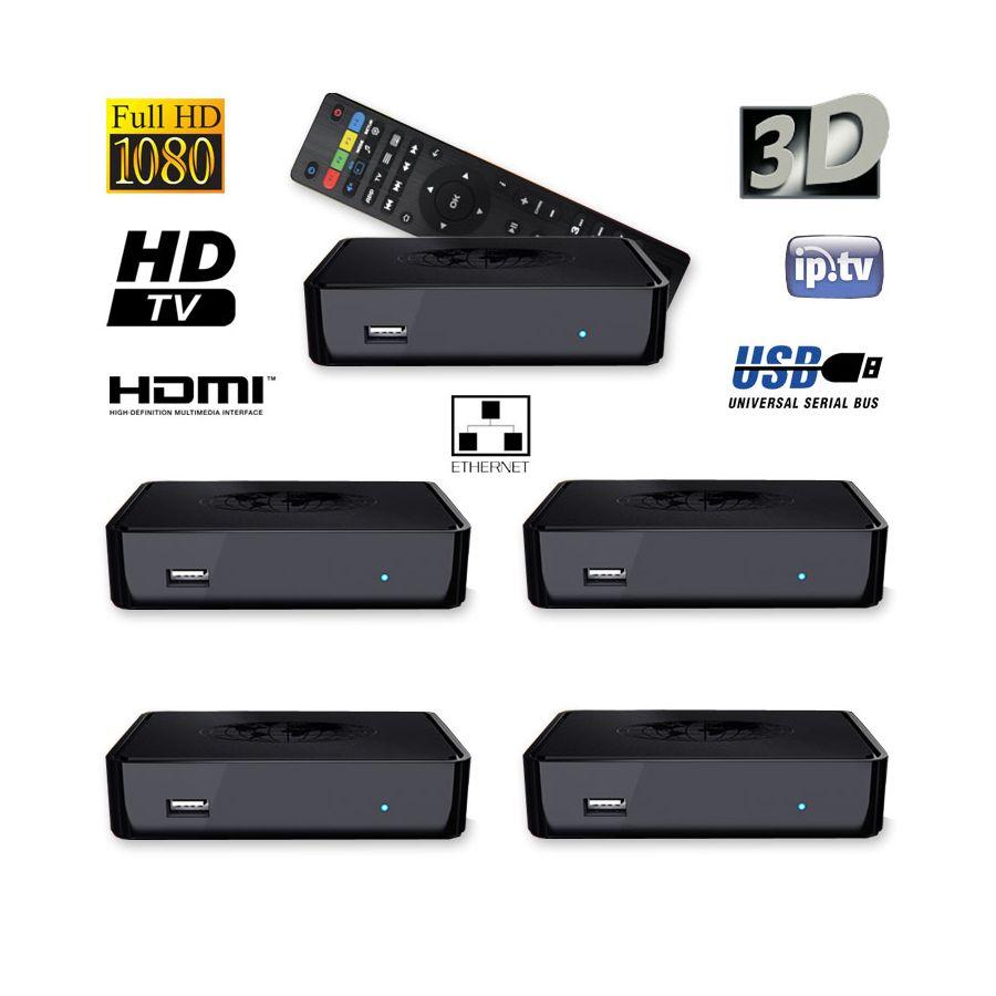5x mag 254 iptv set top box von infomir receiver multimedia player internet tv usb. Black Bedroom Furniture Sets. Home Design Ideas
