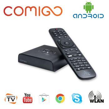 Kartina TV Comigo Quattro IPTV Receiver + 3 Tage Kartina TV Abo Wi-Fi Russ TV HDMI