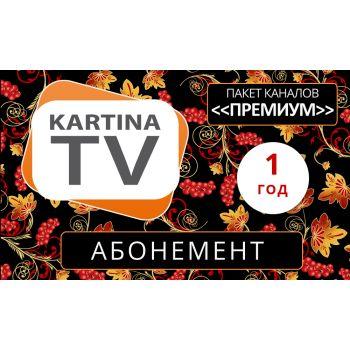 Kartina TV Abonement für 12 Monate 1 Jahr Abo Мультиабонемент Russ TV