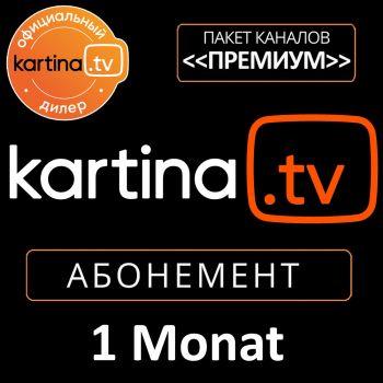 Kartina TV Abonement für 1 Monat Abo Мультиабонемент Russ TV