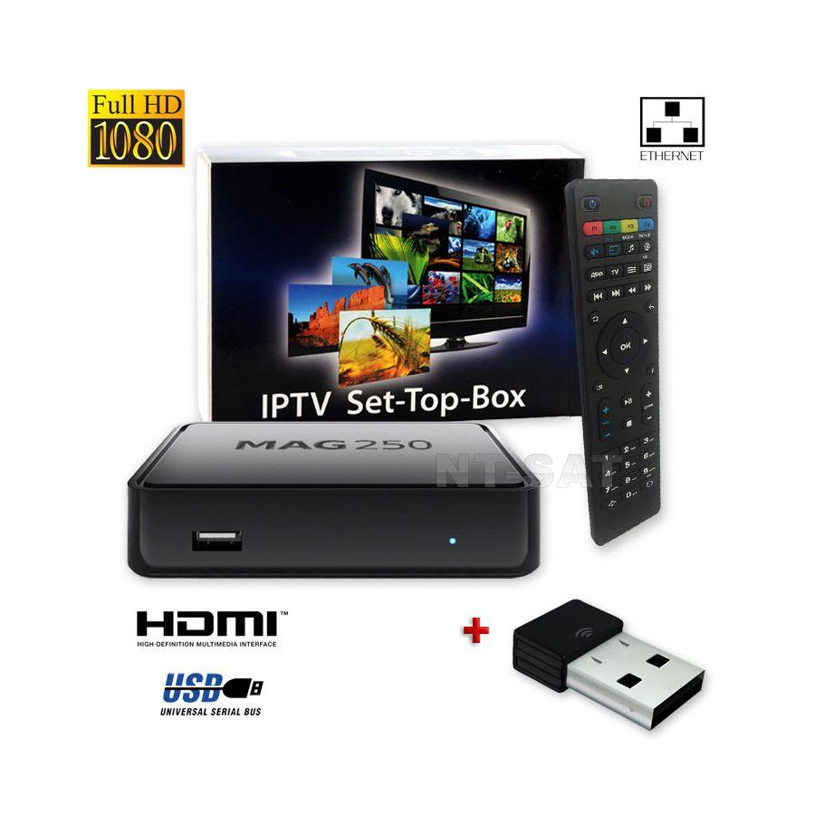 10 x mag 250 box multimediaplayer internet tv box iptv set top usb hdmi hdtv 10x wlan stick. Black Bedroom Furniture Sets. Home Design Ideas