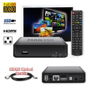 MAG 250 BOX Multimedia player Internet TV Box IPTV SET TOP USB HDMI HDTV