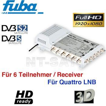 Fuba FMS 506 Sat Multischalter 5/6 für 6 Teilnehmer FULLHD 3D Switch