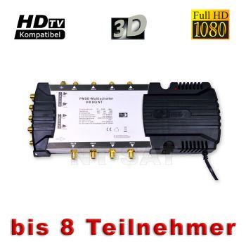 PMSE Multischalter 9/8 HQ NT SAT für HDTV Full HD HD+ 3D Sat Multiswitch