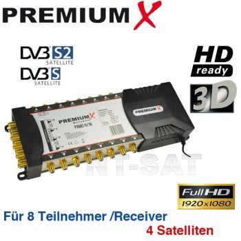 Sat Multischalter 9/16 Multiswitch SAT Verteiler für 2 LNB 16 Teilnehmer HD 3D