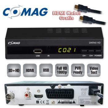 Kabel Receiver Comag DKR40 HD HDTV DVB-C DVB-C2 USB Cable / HDMI Kabel