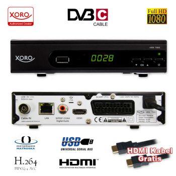 HD Kabel Receiver Xoro Digital HRK 7660 DVB-C USB TV Aufnahme PVR Mediaplayer