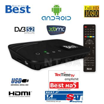 Smart TV Box Android IPTV Mit Sat Receiver Web Box USB WLAN Internet TV XBMC