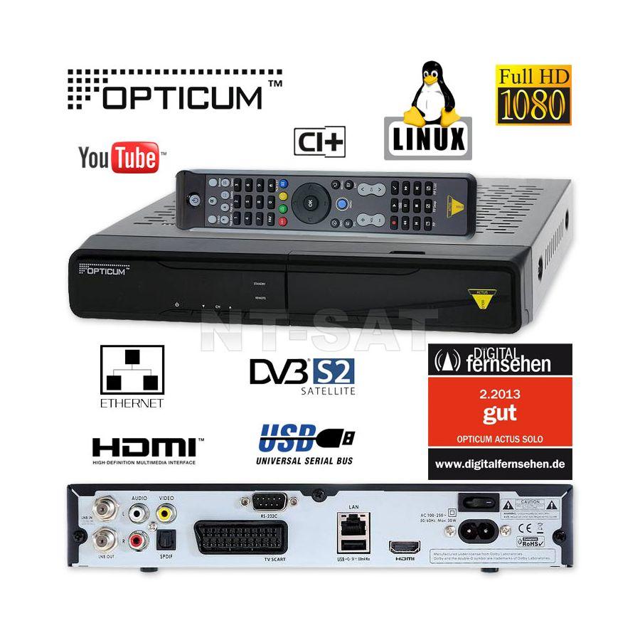 sat receiver opticum hd actus solo ci linux 1080p hdtv. Black Bedroom Furniture Sets. Home Design Ideas
