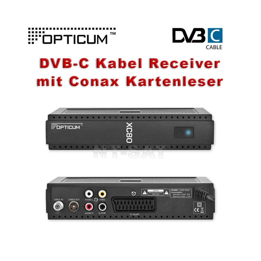 dvb c digital kabel receiver opticum xc 80. Black Bedroom Furniture Sets. Home Design Ideas