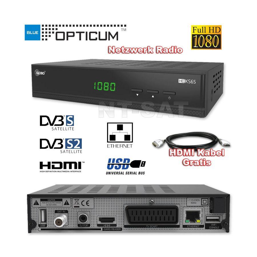hd sat receiver digital opticum xs65 s60 full hd tv hdmi lan usb netzwerk radio. Black Bedroom Furniture Sets. Home Design Ideas