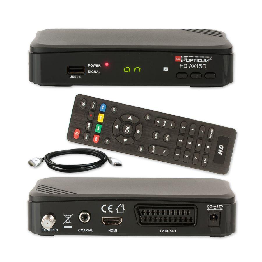 hdtv hd full digital opticum ax150 sat receiver ax 150. Black Bedroom Furniture Sets. Home Design Ideas