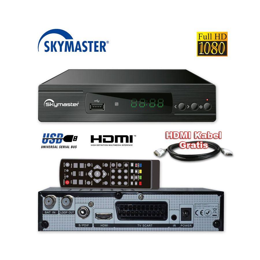 hd sat receiver skymaster dxh 310 usb sat radiodigital. Black Bedroom Furniture Sets. Home Design Ideas