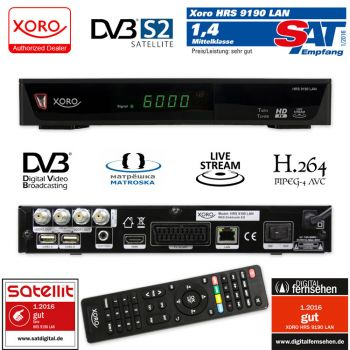 twin receiver xoro hrs 9190 lan mit livetv streaming full hd 2 usb hdmi usb aufnahme. Black Bedroom Furniture Sets. Home Design Ideas