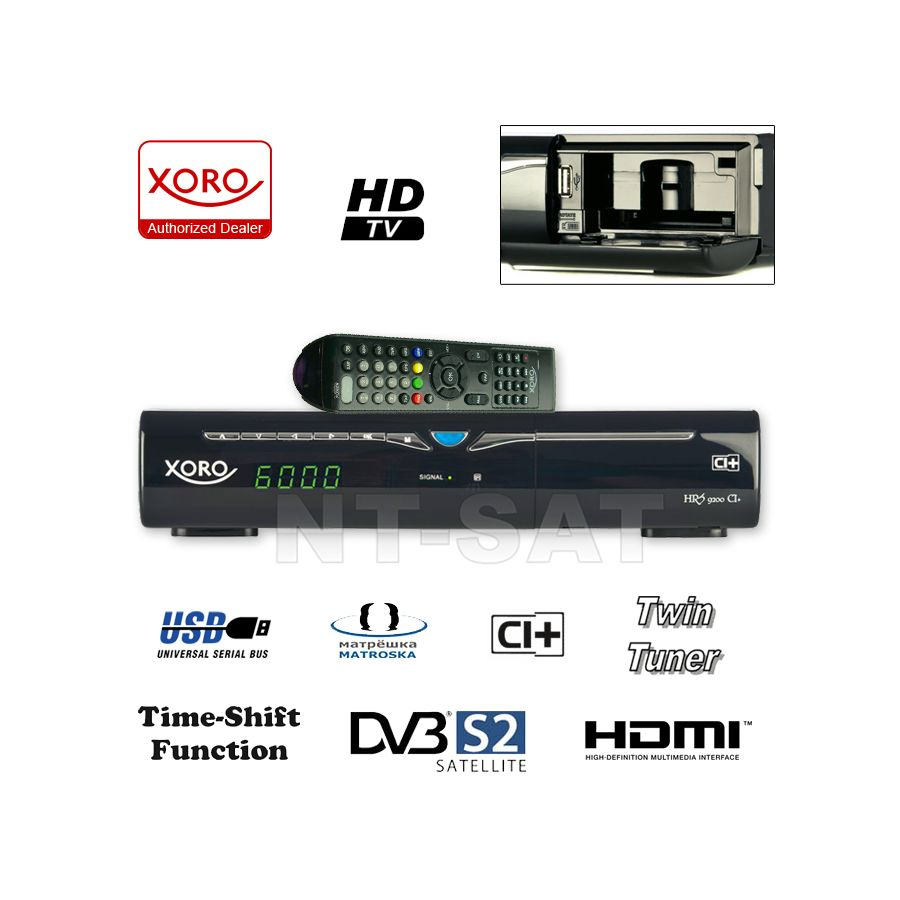 twin tuner hd satelliten receiver xoro hrs 9200 ci. Black Bedroom Furniture Sets. Home Design Ideas