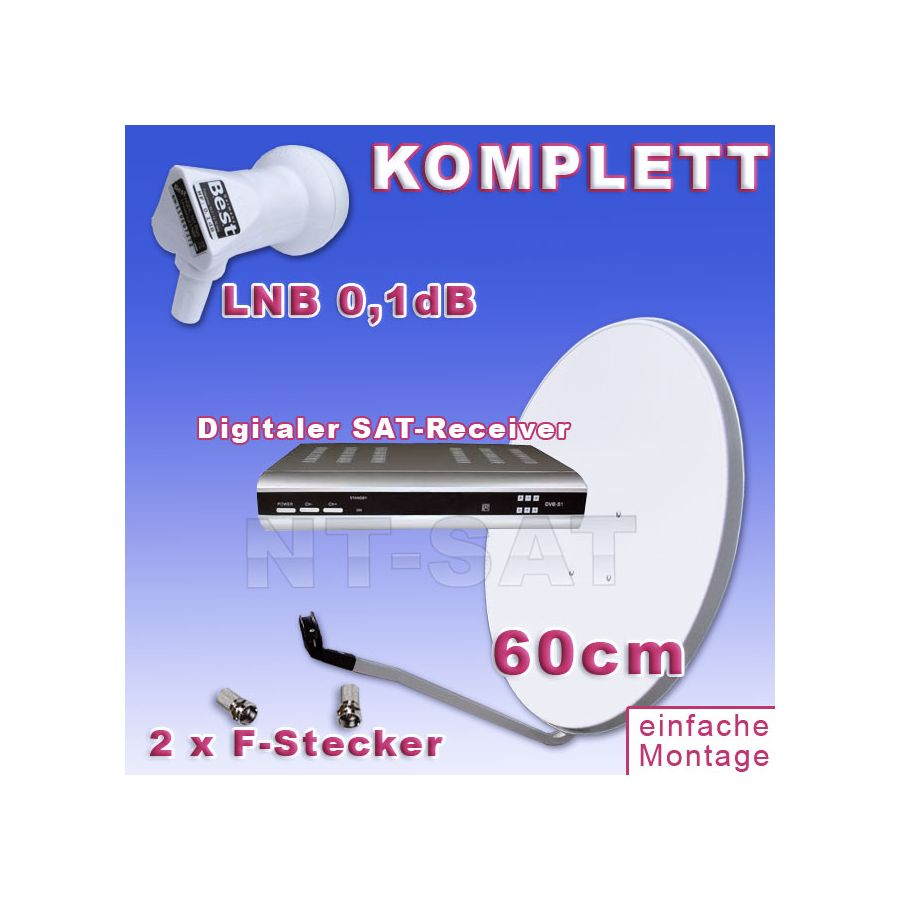 sat komplett set inkl digitaler sat receiver g nstig kaufen. Black Bedroom Furniture Sets. Home Design Ideas