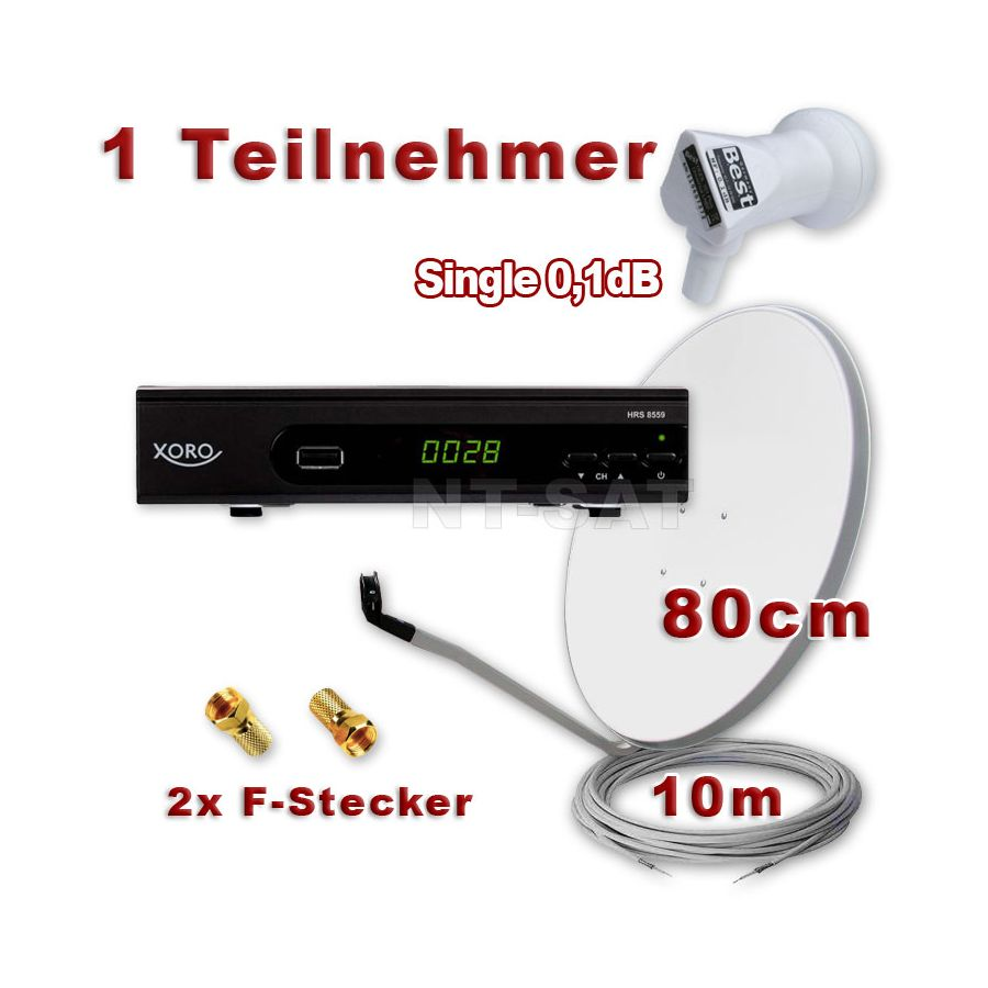 digitale hd sat anlage mit lnb hd receiver xoro full hd spiegel 80 cm antenne sch ssel. Black Bedroom Furniture Sets. Home Design Ideas