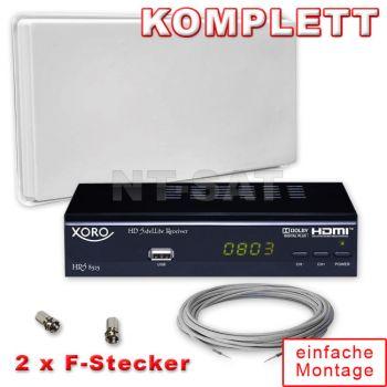 Komplette Anlage SelfSat mit HD Receiver Xoro HRS 8525
