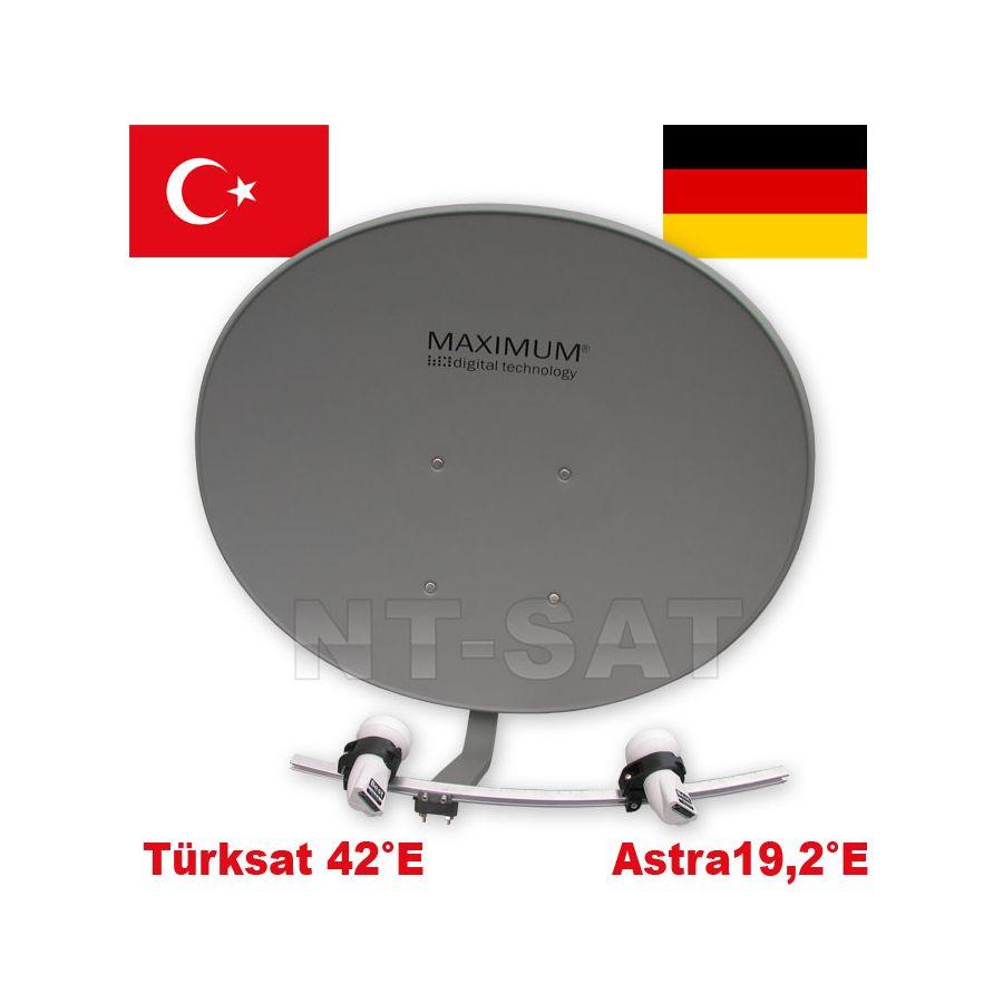 1 Teilnehmer Turksat Astra Maximum T 85 Multifocus Antenne Mit 2 Lnb