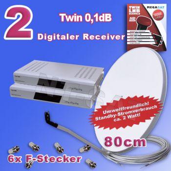 Komplettanlage mit 2 Receiver Digital M 45