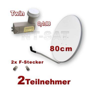 Digital SAT Spiegel 80cm und Mikroelektronik Twin LNB