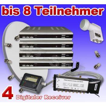 Digitales Multi-Set für 8 Teilnehmer inkl. 4 Digital Receiver