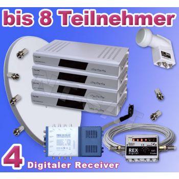 Dig. Anlage 8 Teilnehmer inkl. 4 Digital Receiver