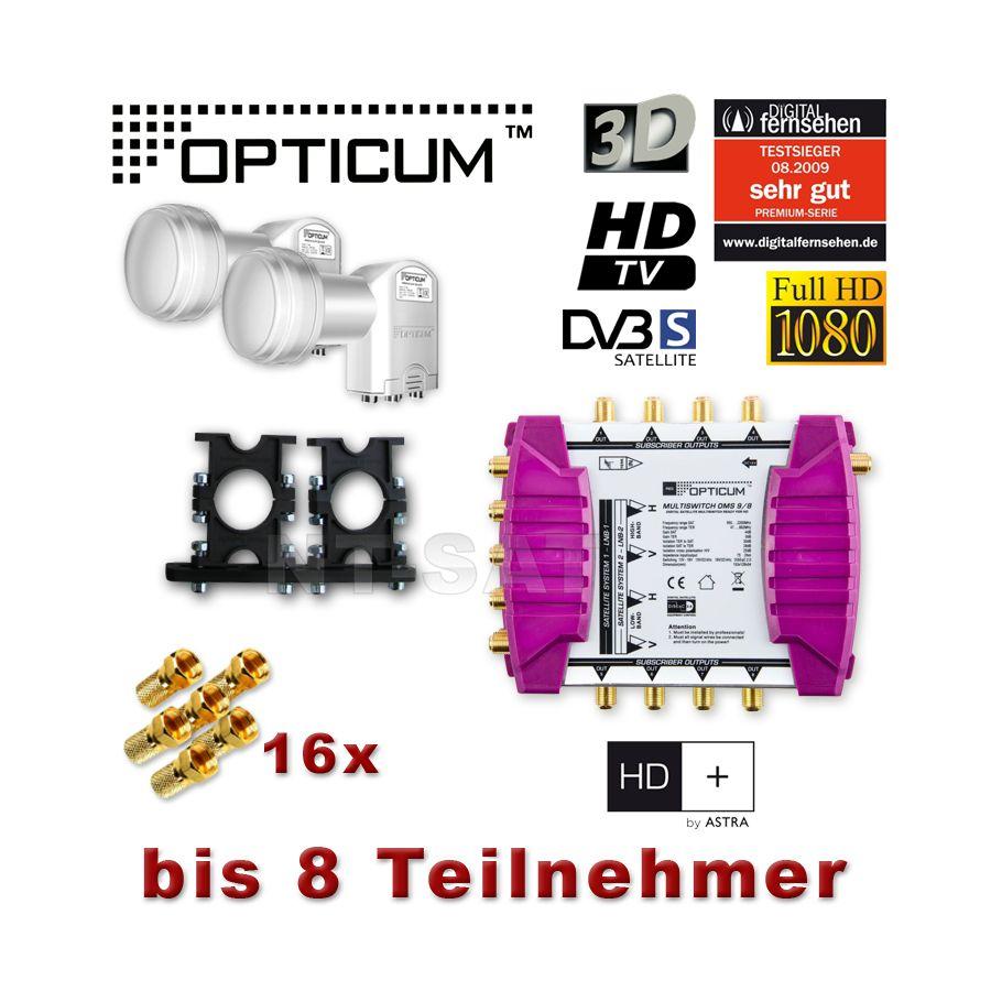 multischalter 9 8 digital sat opticum oms 9 8 quattro lnb 0 1 3d hdtv sat anlage 8 teilnehmer. Black Bedroom Furniture Sets. Home Design Ideas