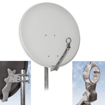 Digitale HD SAT Spiegel Antenne DUR-line ® 75 Select Hell Grau