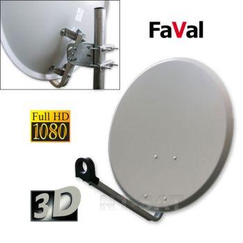 FaVal Antenne 60cm Stahlantenne, Hellgrau