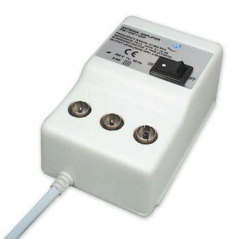 Antennen Verstärker für Kabel TV + DVBT + Regelbarer Verstärkung: 20dB HDTV DVB-T UKW