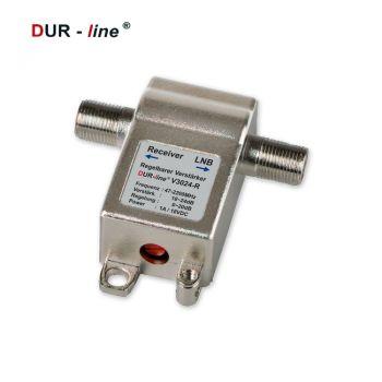 Sat Inline Verstärker mit regelbarer Verstärkung bis 24dB DiSEqC Unicable lange Leitungen