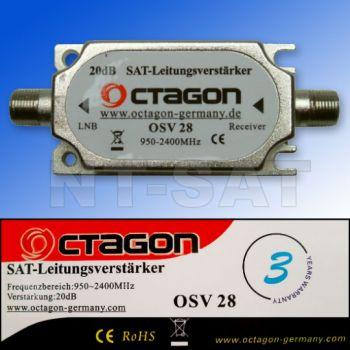 Octagon OSV 28 Inline Sat-Verstärker