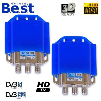 2 x BEST DiSEqC Digital Full hd Schalter 2x1 2/1 B.E.S.T HDTV Switch 3D